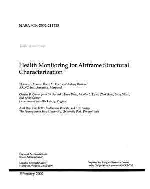 Health Monitoring for Airframe Structural Characterization