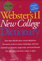 Webster s II New College Dictionary PDF