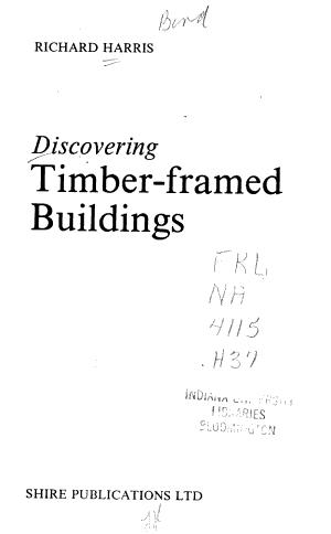 Discovering Timber framed Buildings PDF