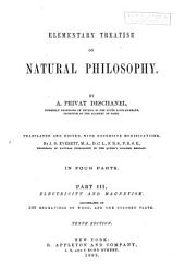 Elementary Treatise on Natural Philosophy: Electricity and magnetism