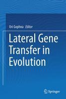 Lateral Gene Transfer in Evolution PDF