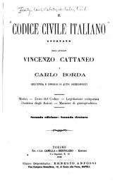 Il codice civile italiano: Volume 1