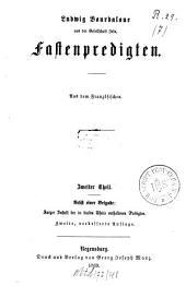 Sämmtliche Werke: aus dem Französischen. Fastenpredigten ; 2, Band 5
