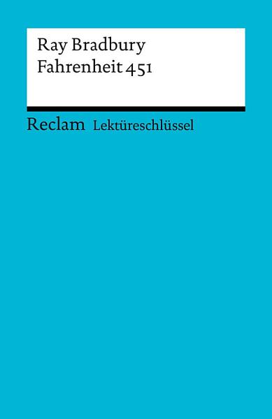 Lektureschlussel Ray Bradbury Fahrenheit 451