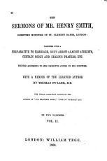 The Sermons of Mr  Henry Smith PDF