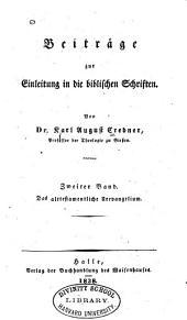Beiträge zur Einleitung in die biblischen Schriften: Band 2