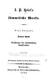J.P. Hebel's sämmtliche werke: bd. Erzählungen des rheinländischen hausfreundes