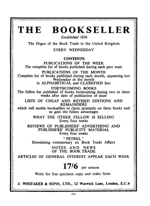 Whitaker s Cumulative Book List