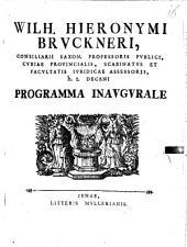Programma inaugurale