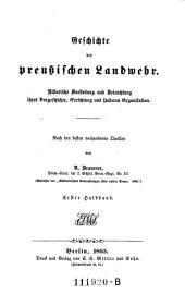 Geschichte der Preussischen Landwehr
