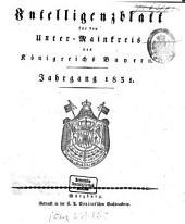 Intelligenzblatt für den Unter-Mainkreis des Königreichs Bayern: 1831, 1