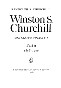 Winston S  Churchill  Youth  1874 1900 PDF