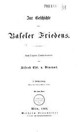 Zur Geschichte des Baseler Friedens: Band 2