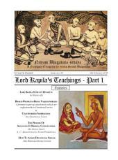 NBS#30: Lord Kapila's Teachings