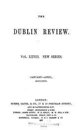 The Dublin Review: Volume 28; Volume 80