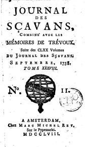 Le journal des sçavans, combiné avec les mémoires de Trévoux: Volume38