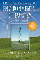 Fundamentals of Environmental Chemistry  Third Edition PDF