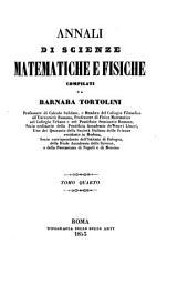 Annali di scienze matematiche e fisiche: Volume 4