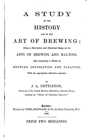 A study of the history and of the art of brewing