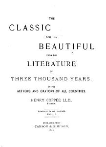 The Classic and the Beautiful from the Literature of Three Thousand Years PDF