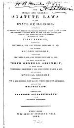 The Public and General Statute Laws of the State of Illinois
