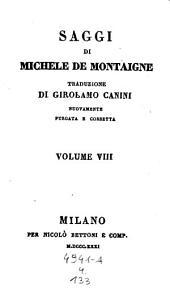 Saggi, traduzione di Girolamo Canini nuovamente purgata e corretta: Volume 4;Volume 133