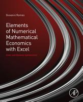 Elements of Numerical Mathematical Economics with Excel PDF
