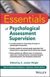 Essentials Of Psychological Assessment Supervision Book PDF