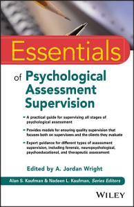 Essentials of Psychological Assessment Supervision Book