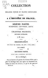 Collection des meilleurs dissertations, notices et traités particuliers relatifs à l'histoire de France: composée en grande partie de pièces rares, du qui n'ont jamais été publiées séparément, Volume15