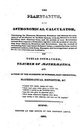 The Planetarium and Astronomical Calculator