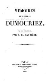 Mémoires du général Dumouriez: Volume1