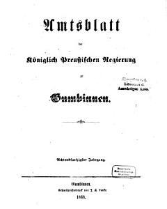 Amtsblatt des Regierungspr  sidenten in Gumbinnen PDF