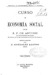 Curso de economía social: Volumen 1