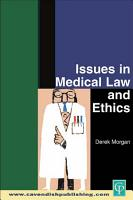 Issues in Medical Law and Ethics PDF