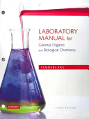 Laboratory Manual for General  Organic  and Biological Chemistry PDF