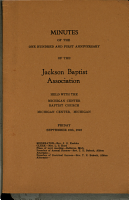 Minutes of the     Anniversary of the Jackson Baptist Association PDF