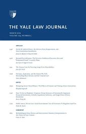Yale Law Journal: Volume 124, Number 5 - March 2015