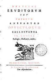 Charitonis et Hippophili Hodoeporici pars prima (-v.).