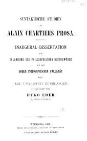 Syntaktische Studien zu Alain Chartiers Prosa