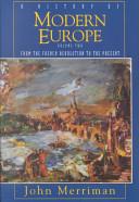 History of Modern Europe Book