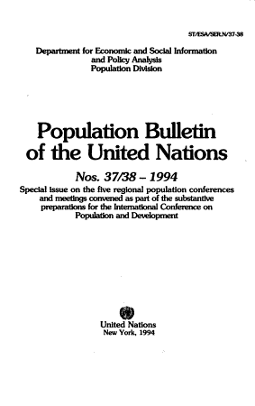 Population Bulletin of the United Nations PDF
