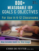 800  Measurable IEP Goals and Objectives PDF