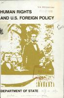 Human Rights and U S  Foreign Policy PDF