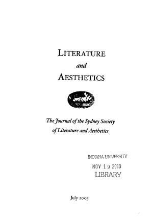 Literature and Aesthetics PDF
