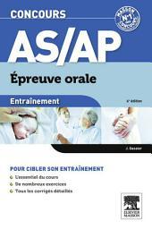 Entraînement Concours AS/AP épreuve orale: Édition 6