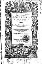 Opera omnia, ex vulgata D. Lambini recognitione