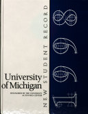 New Student Record, University of Michigan