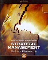 Strategic Management  Concepts  Competitiveness and Globalization PDF