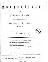 Morgenblatt für gebildete leser: Band 15,Teil 1